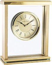 London Clock 03123 Gold Flat Top Mantel Mantel