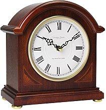 London Clock - 07029 - Break Arch Mahogany Wood