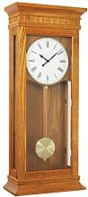 London Clock - 25073 - Tall Oak Wood Finish