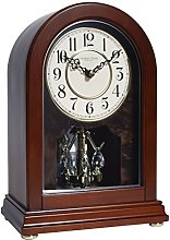 London Clock Arch top Wooden Mantel Clock, Dark
