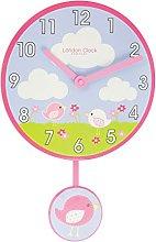 London Clock Birds Childrens Wall Clock, Multi, 38