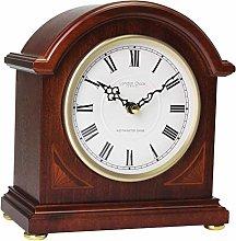 London Clock Break Arch Mantel Clock, Mahogany,