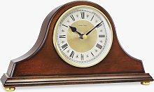 London Clock Company Library Walnut Finish Mantel