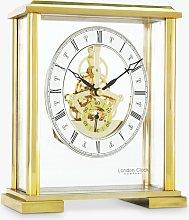London Clock Company Roman Numeral Skeleton Mantel