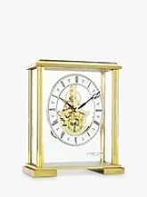 London Clock Company Skeleton Mantel Clock, Gold