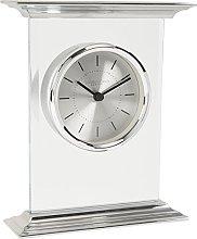 London Clock Flat Top Silver Mantel Clock, 15 x 18