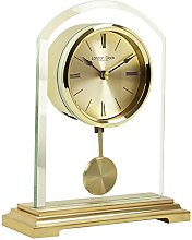 London Clock Gold arch pendulum mantel clock, 19.5