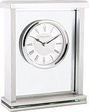 London Clock Silver flat top mantel clock, 21 x