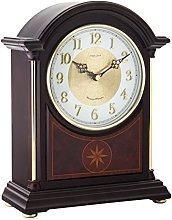 London Clock Solid Wood Break Arch Mantel Clock,