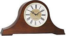 London Clock Solid Wood Napoleon Mantel Clock,