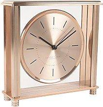 London Clock Square Rose Gold Large Mantel Clock,