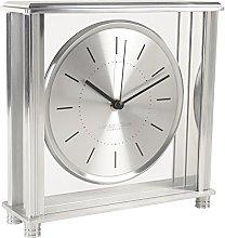 London Clock Square Silver Large Mantel Clock, 20