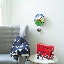London Clock Train Childrens Wall Clock, Multi, 38