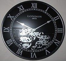 London Mechanical Gear Skeleton Wall Clock Borough