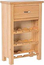 London Oak Wine Rack Drinks Cabinet for Living