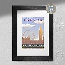 London Poster - England Travel Print   Travel Wall