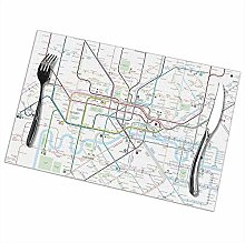 London Tube Map Rectangular Table Placemats Table