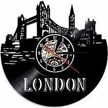 London Vinyl Record Wall Clock Retro UK London