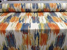 Long Beach Tango Blue Orange 140cm Curtain Fabric