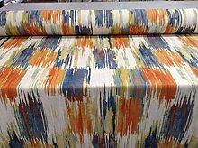Long Beach Tango Blue Orange 140cm Curtain Fabric