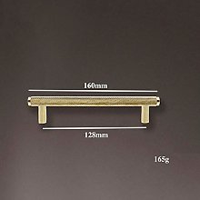 Long Brass Knurled/Textured Simple Kitchen Cabinet
