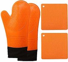 Long cotton food grade silicone cloth gloves