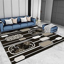 Long Rug Cheap Rugs Black Short Pile Carpet,