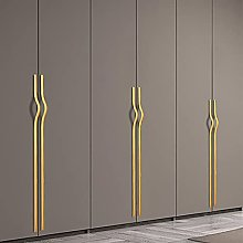 Long Wardrobe Handle Gold/Black Zinc Furniture