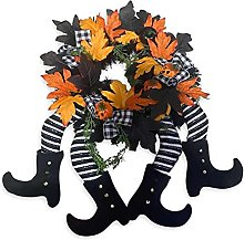 Longlasting Witch Legs Wreath - Halloween Front