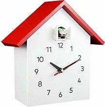 longsing Table Clock Solid Wood Cuckoo Clock Mute