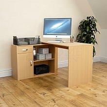 Longton Adjustable Computer Desk, Pine