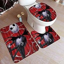 LONSANT 3 Piece Non Slip Bath Mat Set,Jack