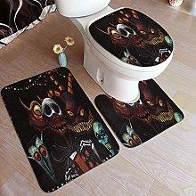 LONSANT 3 Piece Non Slip Bath Mat Set,The