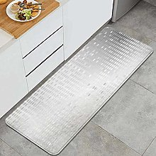 LONSANT Kitchen Rug,Shiny background with silver