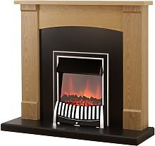 Lonsdale Fireplace Suite in Oak with Elan Electric