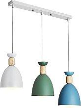 LONSTAII Macaron Nordic Pendant Light 3 Way Modern