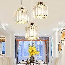 LONSTAII Modern Dining Room Cristal Pendant Light