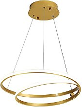 LONSTAII Simple Golden Dining Room Hanging Lamp