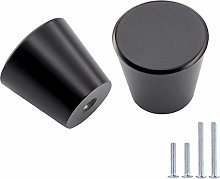 LONTAN Round Cabinet Knobs Black 15 Pack Knobs for