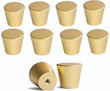 LONTAN Round Cabinet Knobs Brushed Brass 10 Pack