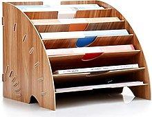 LONTG Wooden File Organiser Desktop Organiser