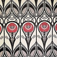 Loome Charles Rennie Mackintosh Fabric - Red and