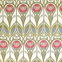 Loome Charles Rennie Mackintosh Style Fabric - Red