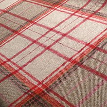 Loome Iona 'Cranberry Plaid' : Red Wool