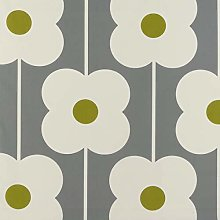 Loome Orla Kiely Abacus Flower Olive Green and