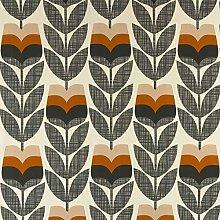 Loome Orla Kiely Rosebud Orange Cotton Prints