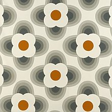 Loome Orla Kiely Striped Petal Orange Cotton