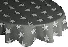 Loomis Tablecloth Mercury Row Colour: Grey