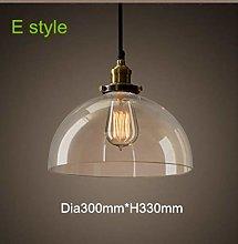 loonju Vintage Pendant Light Glass Hanglamp E27