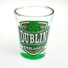 Loose Shot Glass with Dublin, Ireland and Green